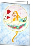 Preppy Greeting Cards - The swan princess Greeting Card by Rakhee van Meerkerk