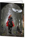 Photomanipulation Digital Art Greeting Cards - The Travellers Greeting Card by Angel Gold