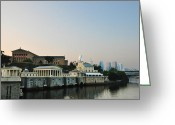 Bill Cannon Greeting Cards - The Waterworks and Art Museum Greeting Card by Bill Cannon