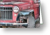 Antique Truck Greeting Cards - The Willys Greeting Card by JC Findley