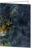 Feline Painting Greeting Cards - Thinking Of You Greeting Card by Paul Lovering
