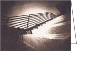 Banister Greeting Cards - Though the eye of a pinhole Greeting Card by Caitlyn  Grasso