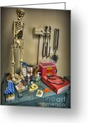 Neurosurgeon Greeting Cards - Time for a Checkup - Doctor Greeting Card by Lee Dos Santos