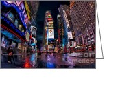 Billboards Greeting Cards - Times Square The City That Never Sleeps Greeting Card by Susan Candelario