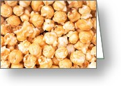 Corn Greeting Cards - Toffee popcorn Greeting Card by Jane Rix