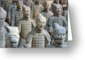 Qin Shi Huang Greeting Cards - Tomb Warriors Greeting Card by Robert Meanor