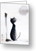 Sumi Greeting Cards - Tomorrow Will Be A Better Day Greeting Card by Oiyee  At Oystudio