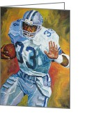 Tony Painting Greeting Cards - Tony Dorsett Greeting Card by Mike Rabe