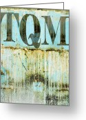 Urbano Greeting Cards - TQM on an Abstract Wall Greeting Card by Anahi DeCanio
