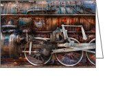 Iridescent Greeting Cards - Train - With age comes beauty  Greeting Card by Mike Savad