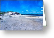 White Colors Greeting Cards - Tranquil Dunes II Greeting Card by East Coast Barrier Islands Betsy A Cutler