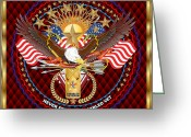 Congressmen Greeting Cards - Tribute-Disabled-American-Veteran-V-2 Greeting Card by Bill Campitelle