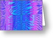 Ferns Greeting Cards - Tropical Delight Greeting Card by Holly Kempe