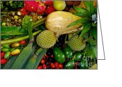 Tropical Fruits Greeting Cards - Tropical fruits Greeting Card by Carey Chen