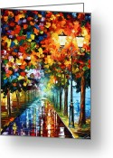 Leonid Afremov Greeting Cards - True COlors Greeting Card by Leonid Afremov