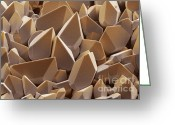 Compound Greeting Cards - Tungsten crystals Greeting Card by Spl