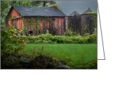 Connecticut Barns Greeting Cards - Twin Peaks Greeting Card by Bill  Wakeley