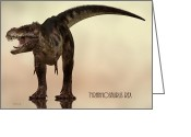 Extinct Greeting Cards - Tyrannosaurus Rex Dinosaur  Greeting Card by Bob Orsillo