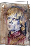 Game Greeting Cards - Tyrion Lannister Greeting Card by Slaveika Aladjova