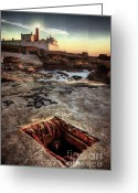 Face Greeting Cards - Underground peek Greeting Card by Carlos Caetano