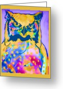 Carol Leigh Greeting Cards - Understated Owl Greeting Card by Carol Leigh