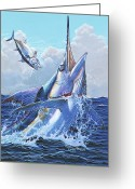 Marlin Azul Greeting Cards - Unexpected Greeting Card by Carey Chen