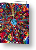 Chromatic Painting Greeting Cards - Unity Greeting Card by Sean Ward