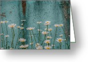 Minimal Greeting Cards - Urban Flowers Greeting Card by Mark Eaton