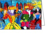 Personage Greeting Cards - Urban Story - The Carnival Ii Greeting Card by EMONA Art