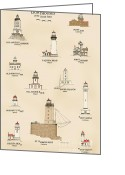 Point Loma Greeting Cards - U.S Lighthouses of the West Coast Greeting Card by Jerry McElroy