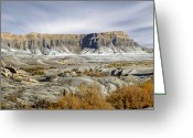 Rock Formation Greeting Cards - Utah Outback 43 Greeting Card by Mike McGlothlen