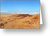 Barren Greeting Cards - Valley of Fire pano Greeting Card by Jane Rix