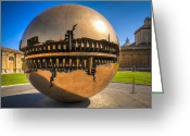 Ancient Architecture Greeting Cards - Vatican Garden Sphere Greeting Card by Erik Brede