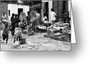 Zambia Photo Greeting Cards - Village Life Greeting Card by Aidan Moran