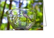 Scenic Glass Art Greeting Cards - Vinsanchi Glass Art-4 Greeting Card by Vin Kitayama