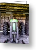 Bill Cannon Greeting Cards - Vintage John Deere Greeting Card by Bill Cannon
