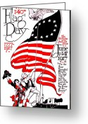 Flag Day Greeting Cards - Vintage Poster - America - Flag Day 1917 Greeting Card by Benjamin Yeager