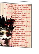 Narrative Text Greeting Cards - Visual Poetry The Longing Greeting Card by Lisa Piper Stegeman