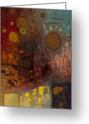 Modern Abstract Art Greeting Cards - Voila Greeting Card by Carmen Guedez