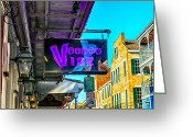 African Heritage Greeting Cards - VooDoo Vibe Greeting Card by Sennie Pierson