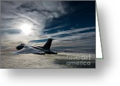 Ascension Island Greeting Cards - Vulcan bomber Greeting Card by Paul Heasman