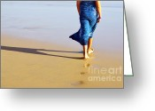 Human Nature Greeting Cards - Walking on the beach Greeting Card by Carlos Caetano