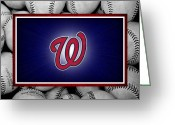 Infield Greeting Cards - Washington Generals Greeting Card by Joe Hamilton