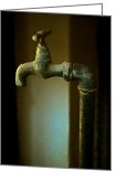 Odd Jeppesen Greeting Cards - Water Sculpture Greeting Card by Odd Jeppesen