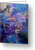 Spiritual Art Pastels Greeting Cards - Water Greeting Card by Studio Tolere