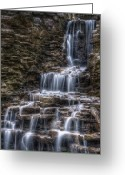Cascade Greeting Cards - Waterfall 2 Greeting Card by Scott Norris