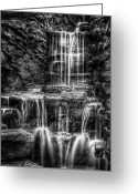 Cascade Greeting Cards - Waterfall Greeting Card by Scott Norris