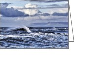 Spume Greeting Cards - Waves in easkey Greeting Card by Tony Reddington