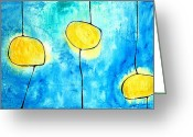 Abstract Art Greeting Cards - We Make A Family - Abstract Art by Sharon Cummings Greeting Card by Sharon Cummings
