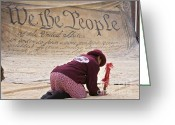 We The People Greeting Cards - We the People Greeting Card by Jim West